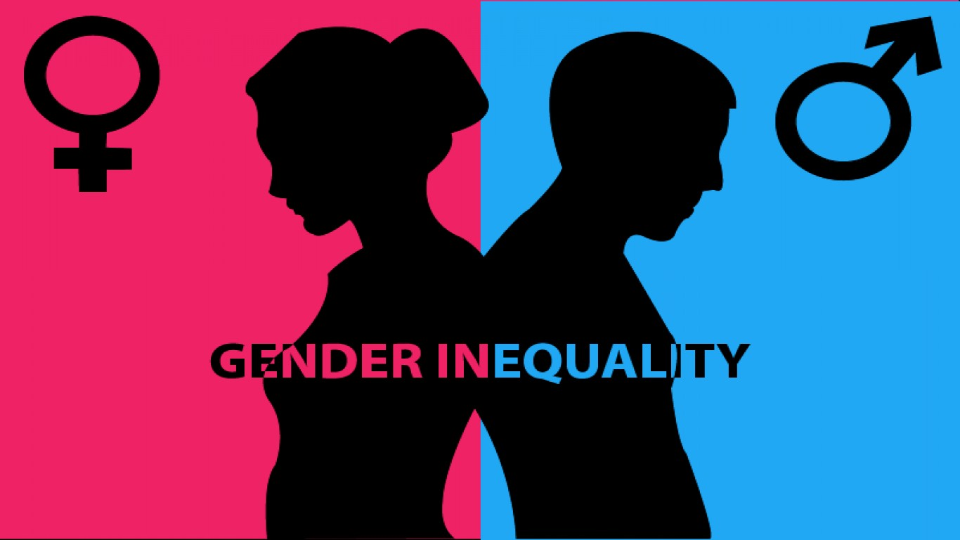 the issues of gender inequality and feminism in the united states of america San francisco—the united states fell to 28th place on a yearly list of the world's most and least equal countries for men and women, behind countries including iceland, rwanda and germany.